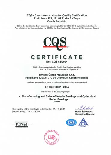 EN ISO 14001: 2004
